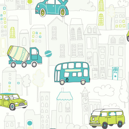Car wallpaper in teal and lime