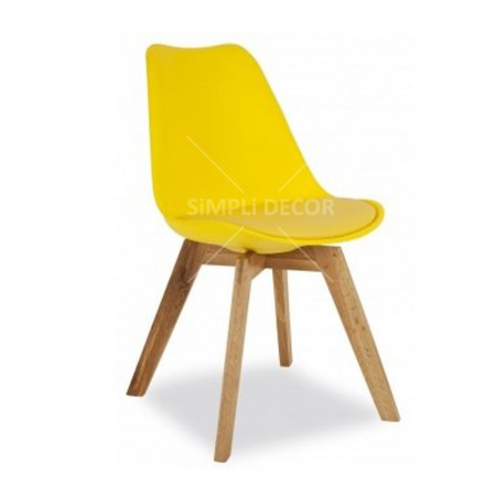 Eames replica chair with wood legs 3
