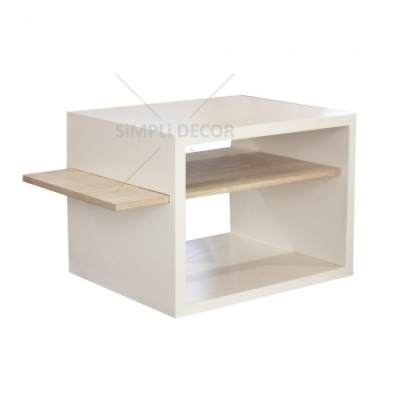 Fino pedestal in white and wood