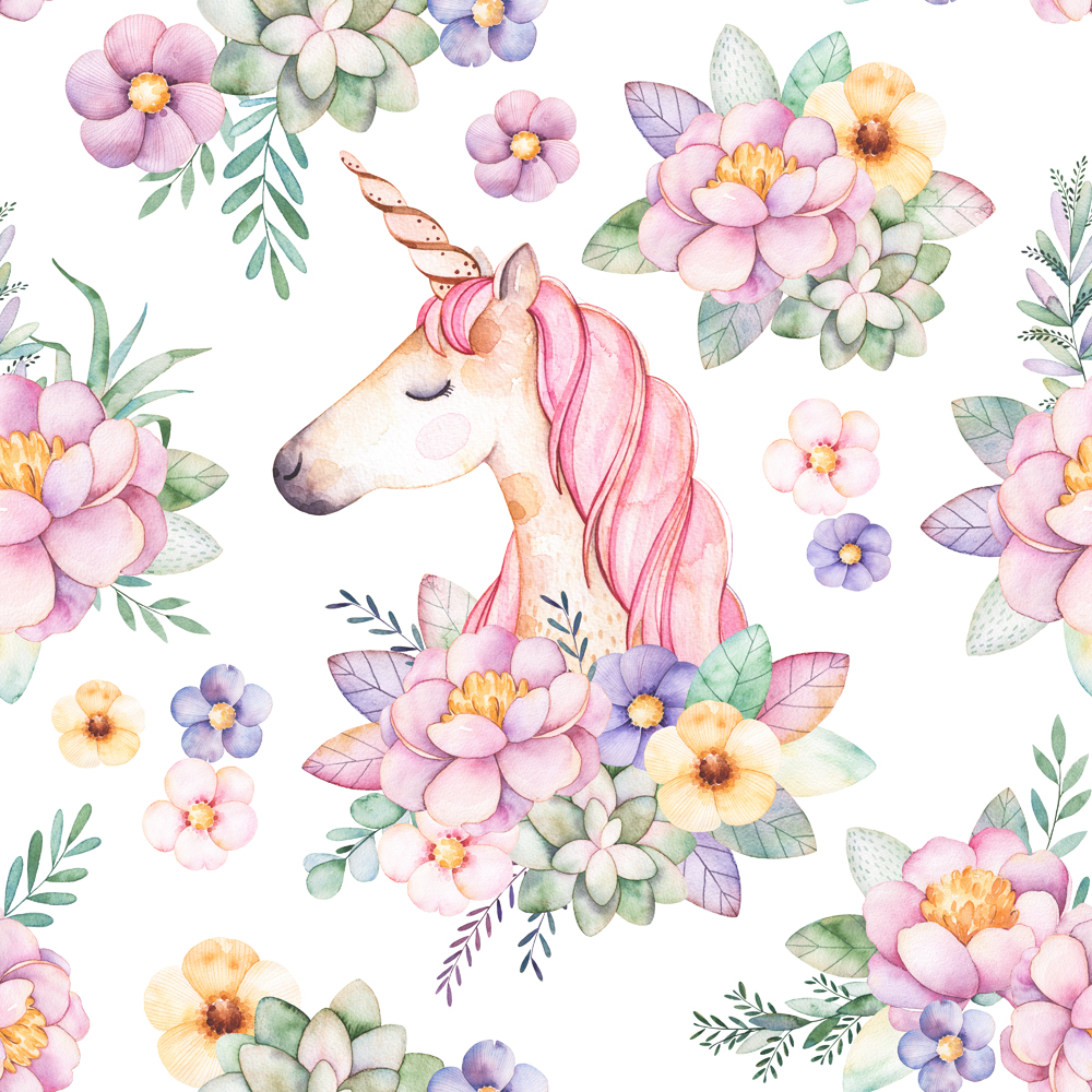 Unicorn Wallpaper Milk Decor