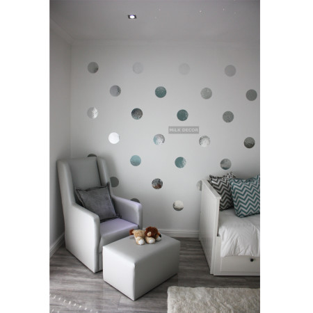 metalic wall dots